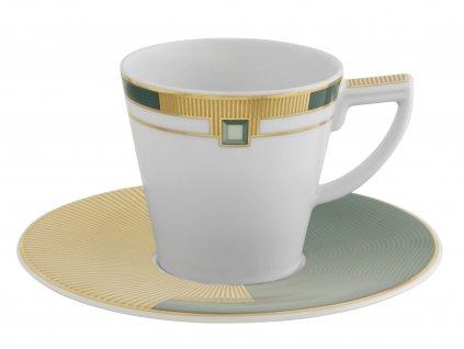 Vista Alegre Emerald Espresso šálek s podšálkem sada 4 kusů