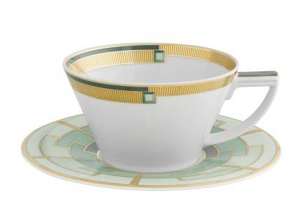 Vista Alegre Emerald Čajový šálek s podšálkem sada 4 kusů