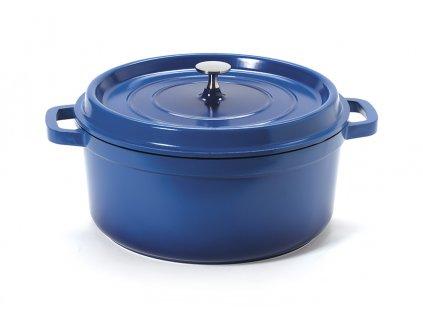 GET Heiss Induktion Kobaltově modrý kulatý hrnec / pekáč s poklicí