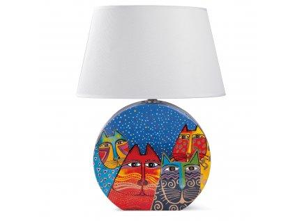Egan LAUREL BURCH FANTASTIC FELINES Modrá lampa 46 cm