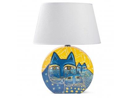 Egan LAUREL BURCH FANTASTIC FELINES Žlutá lampa 46 cm