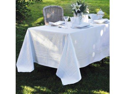 Garnier Thiebaut BEAUREGARD Blanc Kulatý ubrus 195 cm