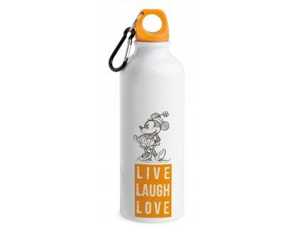 Egan DISNEY LIVE LAUGH LOVE Oranžová nápojová láhev MINNIE 500 ml