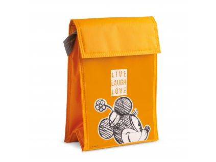 Egan DISNEY LIVE LAUGH LOVE Oranžová chladící taška MINNIE 18X25 cm