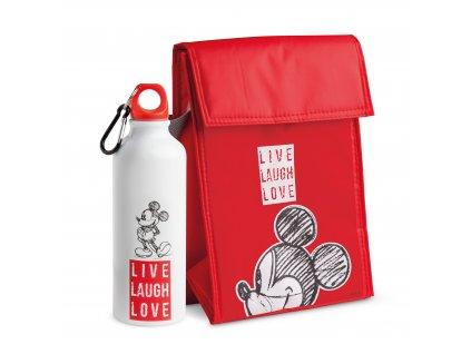 Egan DISNEY LIVE LAUGH LOVE Sada červené chladící tašky a lahve na vodu MICKEY