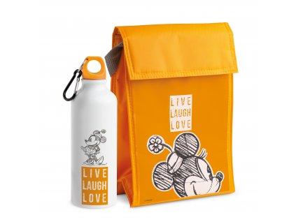 Egan DISNEY LIVE LAUGH LOVE Sada oranžové chladící tašky a lahve na vodu MINNIE