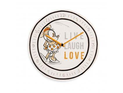 Egan DISNEY LIVE LAUGH LOVE Oranžové hodiny MINNIE ⌀28 cm