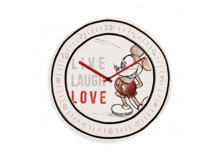 Egan DISNEY LIVE LAUGH LOVE Červené hodiny MICKEY ⌀28 cm