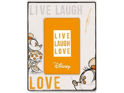 Egan DISNEY LIVE LAUGH LOVE Oranžový rámeček na fotografie MINNIE 22X17 cm