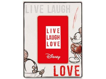 Egan DISNEY LIVE LAUGH LOVE Červený rámeček na fotografie MICKEY 22X17 cm