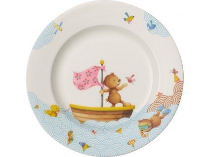 Villeroy & Boch Happy as a Bear dětský mělký talíř 21,5 cm