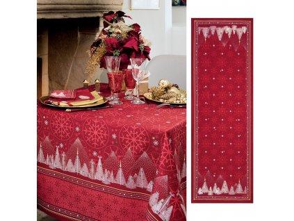 Beauvillé Megéve červený běhoun 50x150 cm