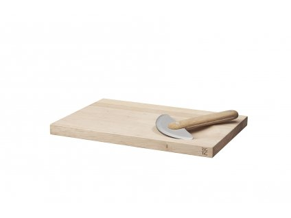 OL Z00320 HERBS chopping board & mezzaluna chopper