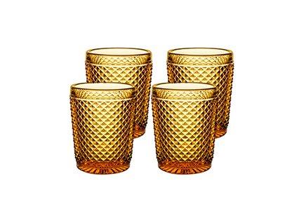 Vista Alegre Bicos Whisky sklenice jantarové 4 kusy
