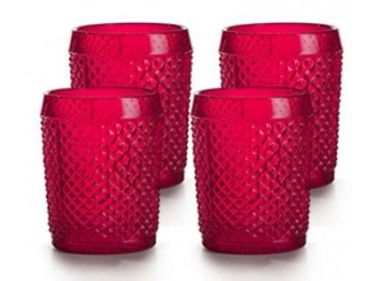 Vista Alegre Bicos Whisky sklenice červené 4 kusy