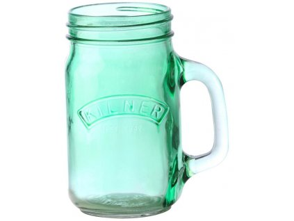 Džbánek s rukojetí 0.4 l, zelené sklo, Kilner