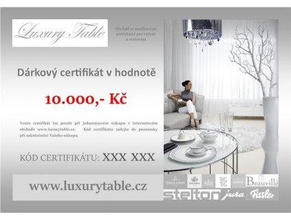 Dárkový poukaz 10.000 Kč