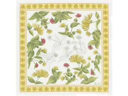 Jardins žlutý ubrousek 52x52 cm, Beauvillé