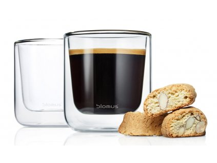 Blomus NERO termo sklenice na kávu 2 ks