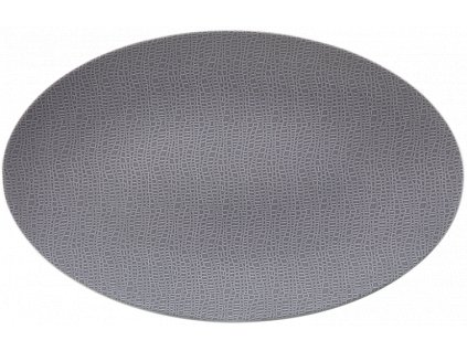 Seltmann Weiden Fashion Elegant Grey Oválný podnos 40x26 cm