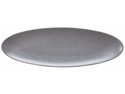 Seltmann Weiden Fashion Elegant Grey Oválný podnos 35x12 cm