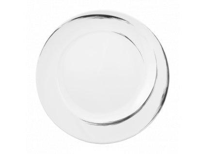 Seltmann Weiden Paso Grey Brush Kulatý mělký talíř 28 cm