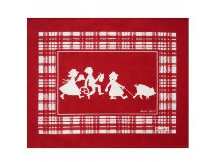 Ma Promenade červená prostírka 38x48 cm, Beauvillé