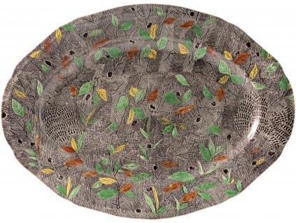 0126CO8F Plat ovale feuillage
