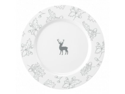 No Limits Waldklänge Mělký talíř 28 cm šedý, Seltmann Weiden