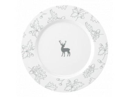 Seltmann Weiden No Limits Waldklänge Mělký talíř 28 cm šedý