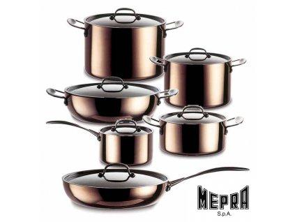 Toscana sada měděného nádobí 12 kusů, Mepra
