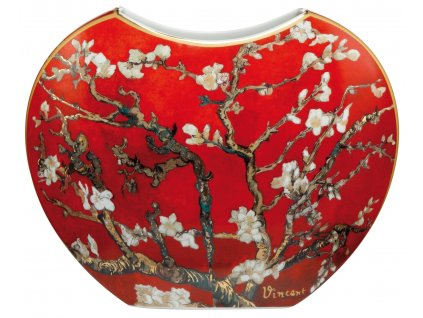 Goebel Van Gogh Váza Mandlový strom červený