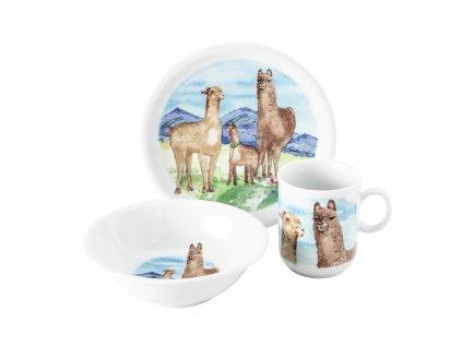 Compact Alpaka dětská sada 3 kusy, Seltmann Weiden