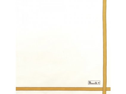 Bicolore bílý ubrousek 52x52 cm, Beauvillé