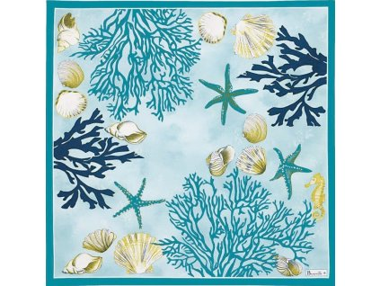 Beauvillé Corail modrý ubrousek 52x52 cm