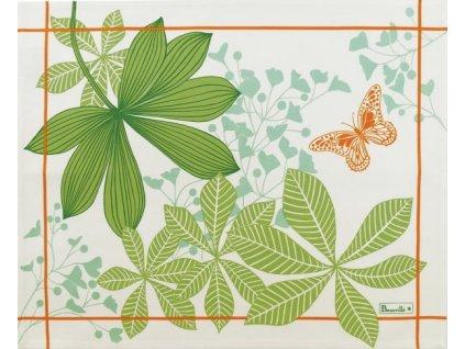 Grandes Palmes anýzově zelená prostírka 38x48 cm, Beauvillé