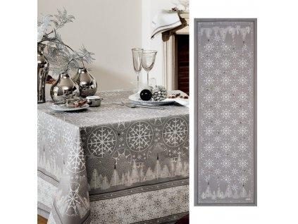 Beauvillé Megéve světle šedý běhoun 50x150 cm