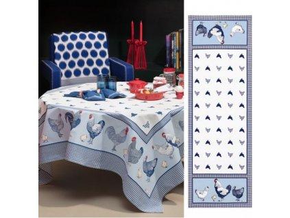 Beauvillé Picoti modrý běhoun 50x150 cm