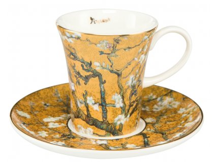 Goebel Espresso šálek Van Gogh Mandlový strom zlatý