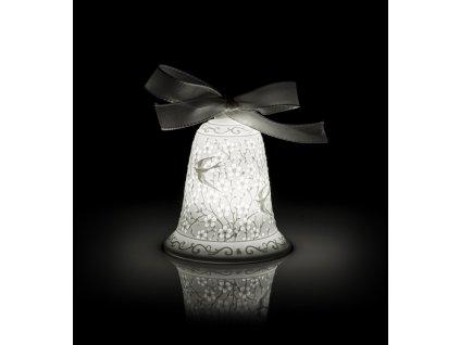 Lamart Pasqua Zvonek s LED osvětlením 9 cm Transparenze