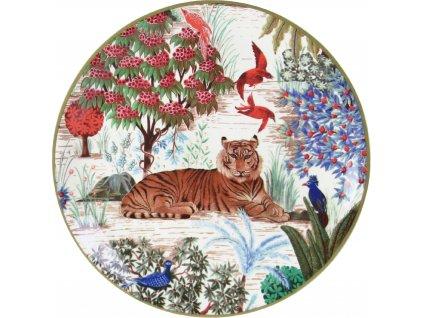 1853ACA401 Assiette canapes Tigre