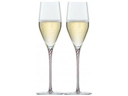 Zwiesel Glas Spirit Aubergine Sklenice na Champagne, 2 kusy
