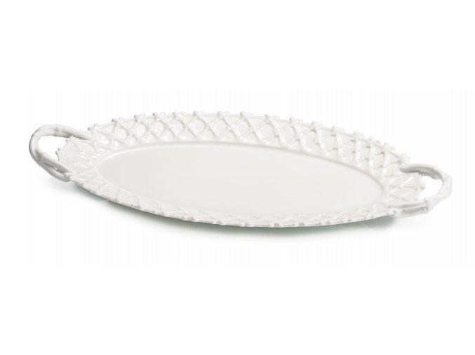 Trame in Bianco Oválný podnos 34 cm, Lamart