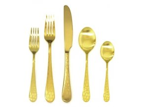 mepra 1095c22005 coccodrillo ice oro 5 piece place setting brushed gold