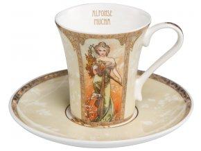 Espresso šálek Alfons Mucha Jaro Léto 1900, Goebel