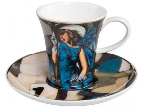 Espresso šálek Žena s rukavicemi Tamara de Lempicka, Goebel