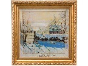 Obraz Monet Zimní krajina 31.5x31.5 cm, Goebel