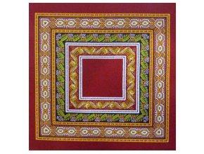 Sanchi červený ubrousek 40x40 cm, Beauvillé
