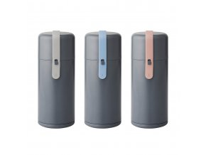 Rig Tig by Stelton Keep It Cool Wasserflasche blau grau rosa Silikonband