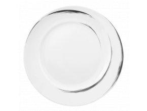 Paso Grey Brush Kulatý dezertní talíř 23 cm, Seltmann Weiden